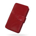 Springhk leather case for Motorola ME722 - red