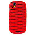 Ultra-thin mesh case for Motorola XT800 - red