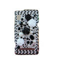 Flower 3D crystal case for Motorola A955 - black