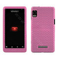 Mesh case for Motorola A955 - pink
