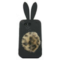 Rabbit Ears Silicone Case For Motorola ME525 - black