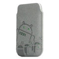 Mofi android army version leather case for Motorola XT702 - gray
