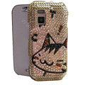 Cartoon bling crystal case for Nokia N97 mini - Gold