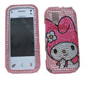Cartoon bling crystal case for Nokia N97 mini - pink