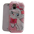 Pink Cat bling crystal case for Nokia N97 mini