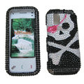 Skull bling crystal case for Nokia N97 mini - black