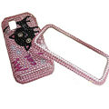 black Cat bling crystal case for Nokia N97 mini