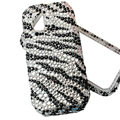 black zebra bling crystal case for Nokia N97 mini
