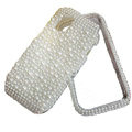 pearl bling crystal case for Nokia N97 mini - white