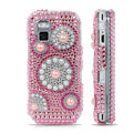 Pink pearl bling crystal case for Nokia N97 mini