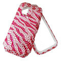 Pink zebra bling crystal case for Nokia N97 mini