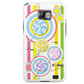 Color Lollipop pattern Silicone Case For Motorola MB860