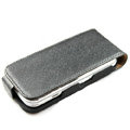 Ultra thin leather case for Nokia N97 mini - black