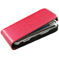 Ultra thin leather case for Nokia N97 mini - red