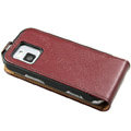 Ultra thin leather case cover for Nokia N97 mini - brown