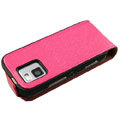 Ultra thin leather case cover for Nokia N97 mini - pink