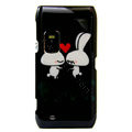 LOVE Rabbits color covers for Nokia E7 - black