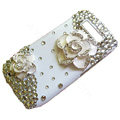 Camellias S-warovski bling crystal case for Nokia E71 - white