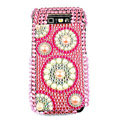 Circle pattern bling pearl crystal case for Nokia E71 - pink