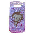 Lovely monkey bling crystal case for Nokia E71 - pink