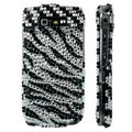 Zebra bling crystal case for Nokia E71 - black