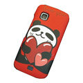 Lovely panda color covers for Nokia C5-03 - red