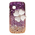 Lucky Clover S-warovski bling crystal case for Nokia C5-03 - Purple