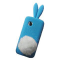 Rabbit Ears Silicone Case For Nokia C5-03 - blue