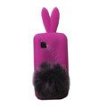 Rabbit Ears Silicone Case For Nokia C5-03 - purple