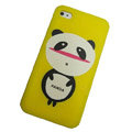 Panda scrub hard back cover for iphone 4G - yellow