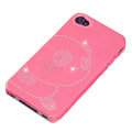 bling Panda hard back cover for iphone 4G - pink