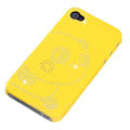 bling Panda hard back cover for iphone 4G - yellow