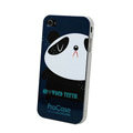 Panda hard back cover case for iphone 4G - black