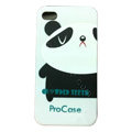 Panda hard back cover case for iphone 4G - white