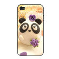 Panda lover hard back cover case for iphone 4G - MM