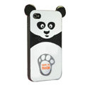 Cute Kung Fu Panda silicone case cover for iphone 4G