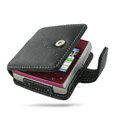 PDair leather holster case for Nokia X5-01 - black