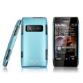 IMAK ultra-thin matte color cover for Nokia X7 - blue