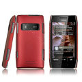 IMAK ultra-thin matte color cover for Nokia X7 - red