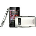 IMAK ultra-thin matte color cover for Nokia X7 - silver