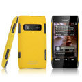 IMAK ultra-thin matte color cover for Nokia X7 - yellow