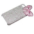 pink bowknot bling crystal case for iPhone 4G