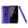 NILLKIN Super Matte Silicone case for Nokia X7 - purple