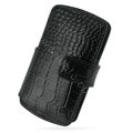 PDair holster leather case for Sony Ericsson Vivaz U5i - black EB002