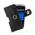PDair holster leather case for Sony Ericsson Vivaz U5i - black