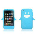 Angel and Devil Silicone Case for iPhone 3G/3GS - Angel blue