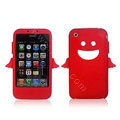 Angel and Devil Silicone Case for iPhone 3G/3GS - Angel red
