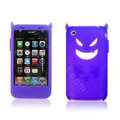 Angel and Devil Silicone Case for iPhone 3G/3GS - Devil purple