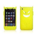 Angel and Devil Silicone Case for iPhone 3G/3GS - Devil yellow