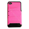 Amass Stand Hard Back Cases Covers for iPhone 4G - pink